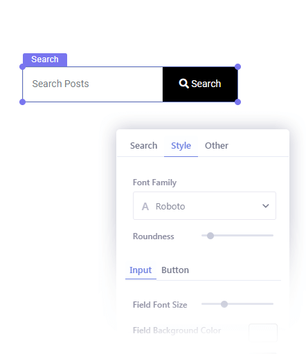 Insert Search option in Your Popup