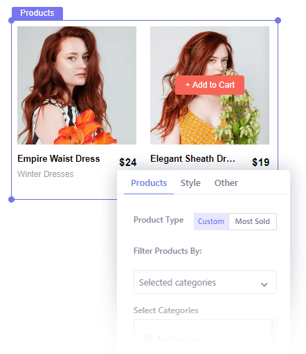 Insert Woocommerce Products in Your Popup