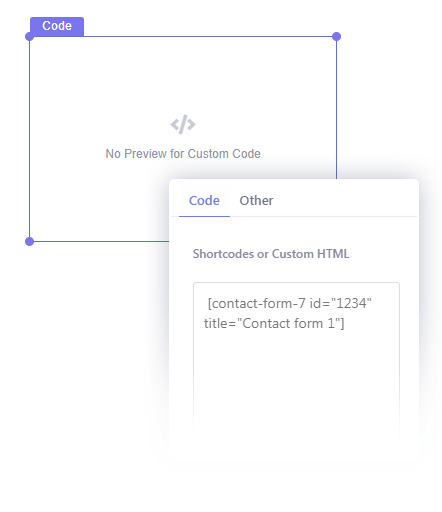 Insert Custom Shortcodes or HTML in Your Popup