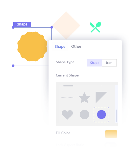 Insert Shapes in Your Popup