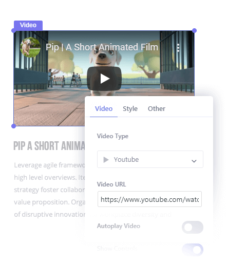 Insert Videos in Your Popup